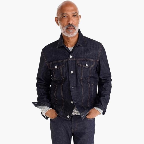 Men's classic J Crew denim jean jacket L XL
